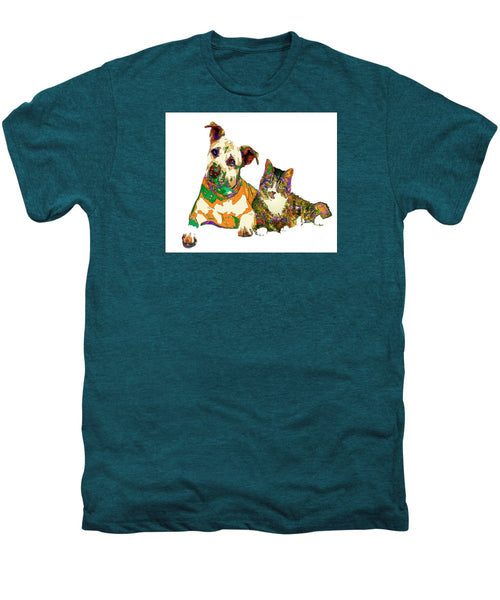 Men's Premium T-Shirt - We Make People Happy For A Living. Pet Series