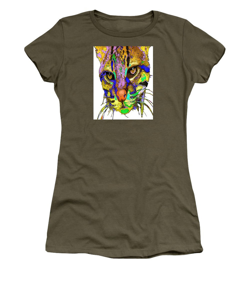 Women's T-Shirt (Junior Cut) - Whiskers. Pet Series