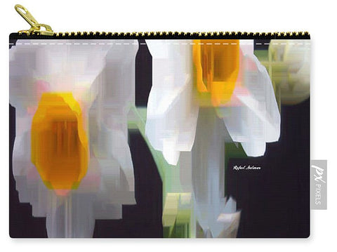 Carry-All Pouch - White And Yellow Flower