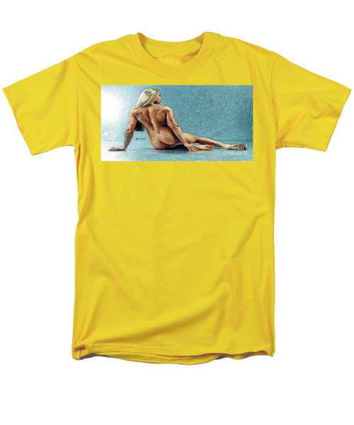 Men's T-Shirt  (Regular Fit) - Woman In A Flattering Pose