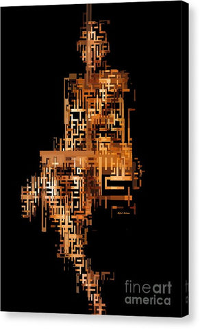 Woman In Code - Canvas Print