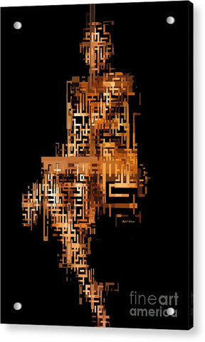 Woman In Code - Acrylic Print