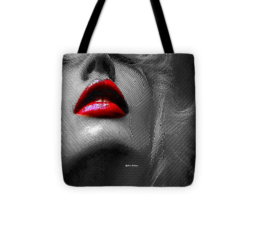 Tote Bag - Woman With Red Lips