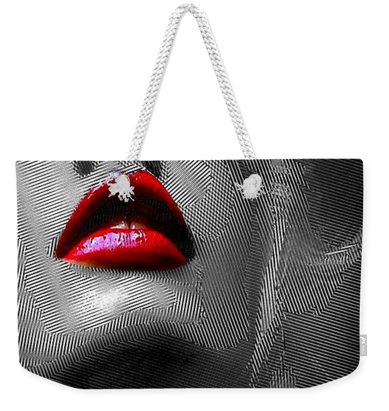 Weekender Tote Bag - Woman With Red Lips