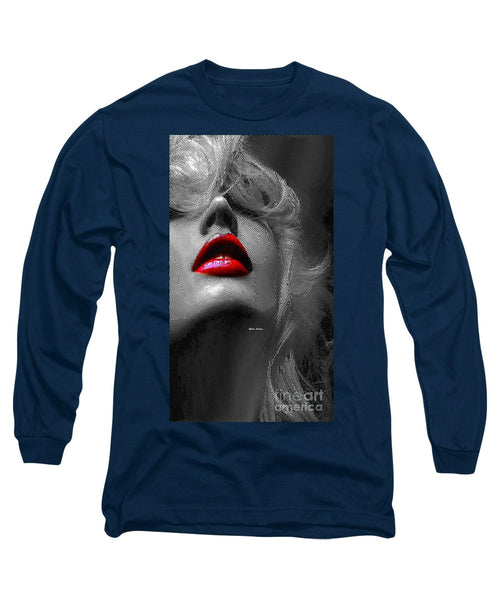 Long Sleeve T-Shirt - Woman With Red Lips