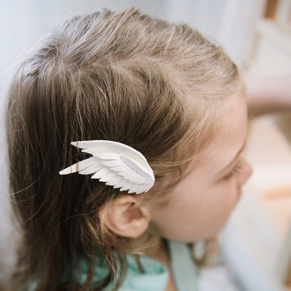 Swan Wing Hair Clip (Double) - create your own