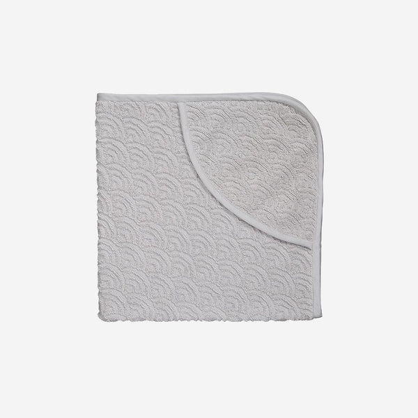 Organic Hooded Baby Towel (Grey)