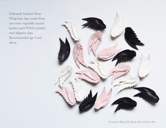 Swan Wing Hair Clip (Double)