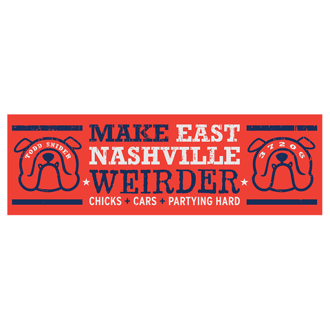 Eastside Bulldog Bumper Sticker - 11 x 3.5