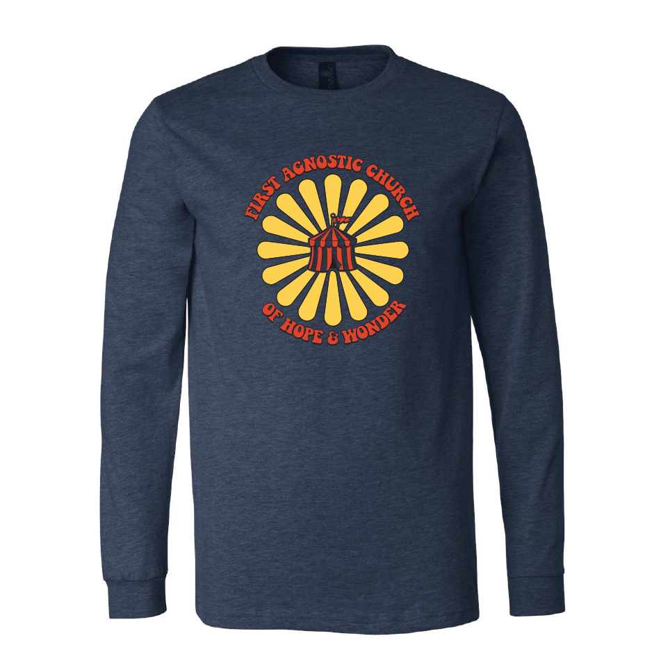 First Agnostic Church Long Sleeve Shirt - Heather Navy
