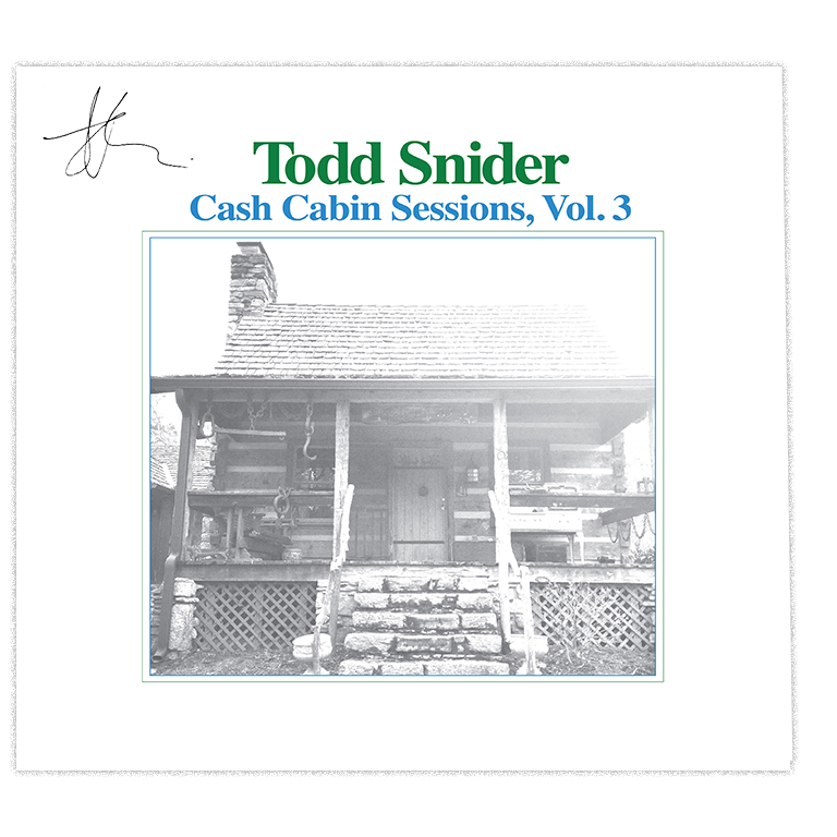Todd Snider - Cash Cabin Sessions, Vol. 3 - Signed Album Flat
