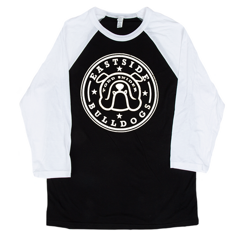 Eastside Bulldog Raglan - Black/White
