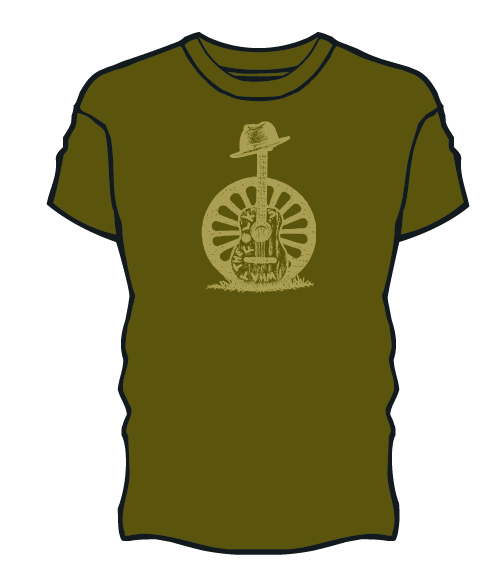 Green Guitar Sketch Shirt