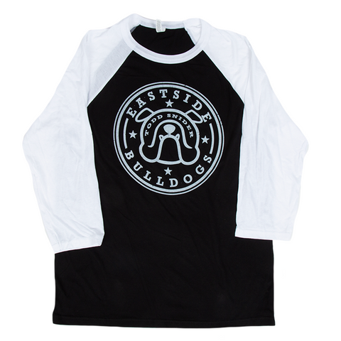 Eastside Bulldog Raglan - Black/Light Blue