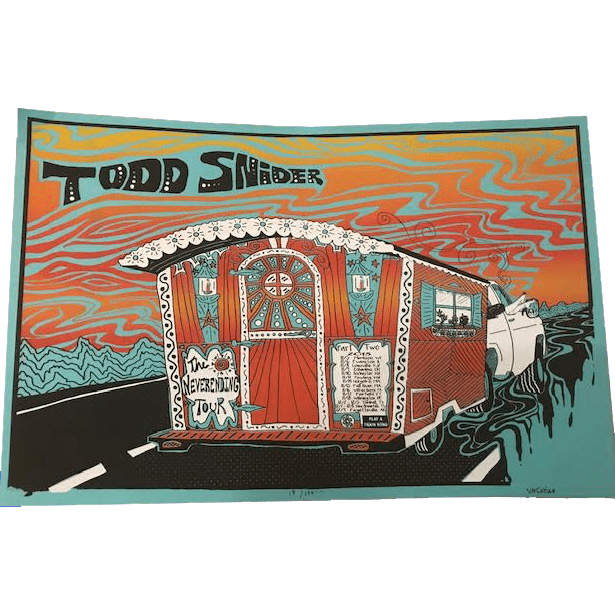 "Limited Edition Silk Screen 2018 Tour Poster - 19"" x 12.5"""