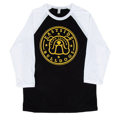 Eastside Bulldog Raglan - Black/Yellow