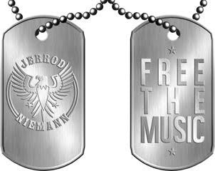 Jerrod Niemann Free The Music Dog Tag Necklace