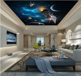spacecraft ceiling mural