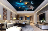 spacecraft ceiling wallpaper