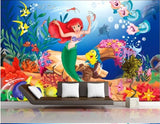 little mermaid wall mural