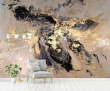 abstract ink splash painting wall mural