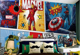 cartoon marvel avengers comic design mural