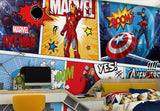 cartoon marvel comics hulk thor wall mural