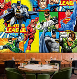 dc comics batman flash green arrow justice league mural