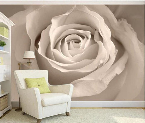 large white flower wall mural