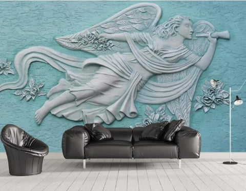 3d relief angel wallpaper