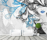 fashion girl business wall mural