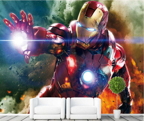 iron man avenger wall mural