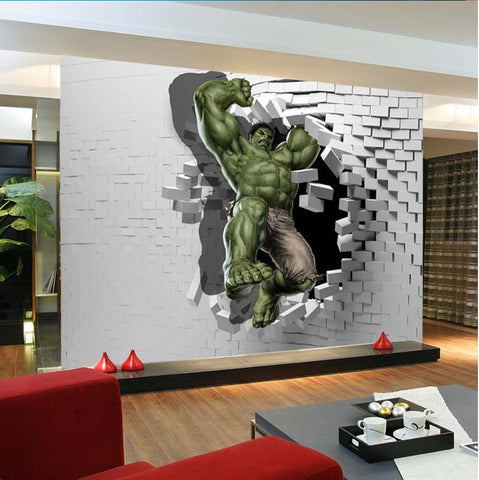 superhero the hulk cartoon wallpaper for wall mural for kids 39 bedroom. Black Bedroom Furniture Sets. Home Design Ideas