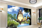 cartoon totoro wall mural