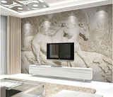 3d relief horse wall mural