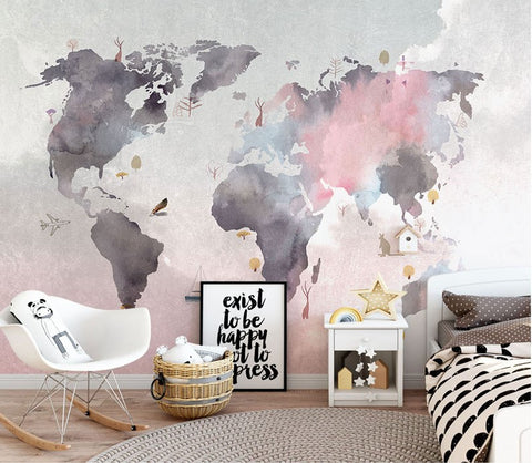 abstract world map wallpaper