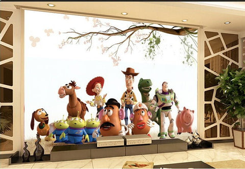 toy story wall mural