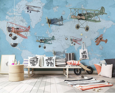 vintage airplanes wallpaper