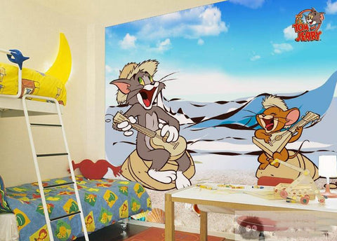 3d Tom And Jerry Cat And Mouse Cartoon Wall Mural For Kids Bedroom Beddingandbeyond Club