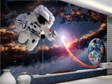 astronaut space walk scene wallpaper