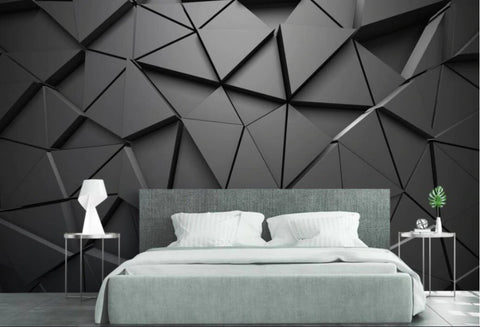 gray triangle shapes wallpaper