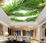 palm tree leaves ceiling mural