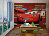 cars cartoon 3d wallpaper wall mural
