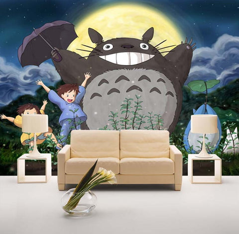totoro cartoon wallpaper wall mural