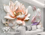 3d lotus fish wallpaper