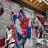 mural nba players