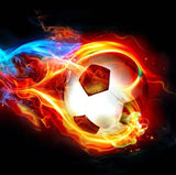 wall mural flaming soccer ball