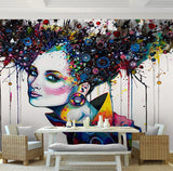 modern abstract painting mural