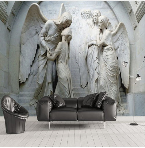 sculpture angels wallpaper