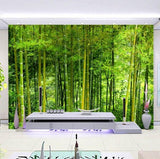 bamboo forest trees wall mural